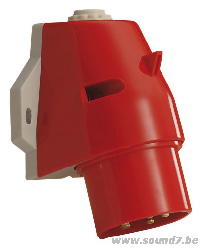 380v 5 Pin Cee Stecker Male Wallmount Sound 7