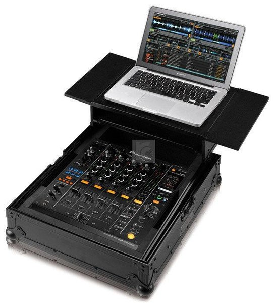 pioneer 900 mixer. zomo flightcase for pioneer djm-900 + laptop 900 mixer