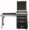 Flightcase 12U with 4 drawers + table