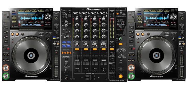 Set PIONEER 2 x CDJ-2000 nexus + DJM-850 - SOUND 7