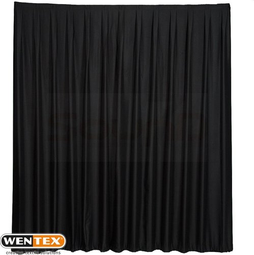 WENTEX Pipes & Drapes - Pleated Gloss Satin Curtin, 165 g/m²